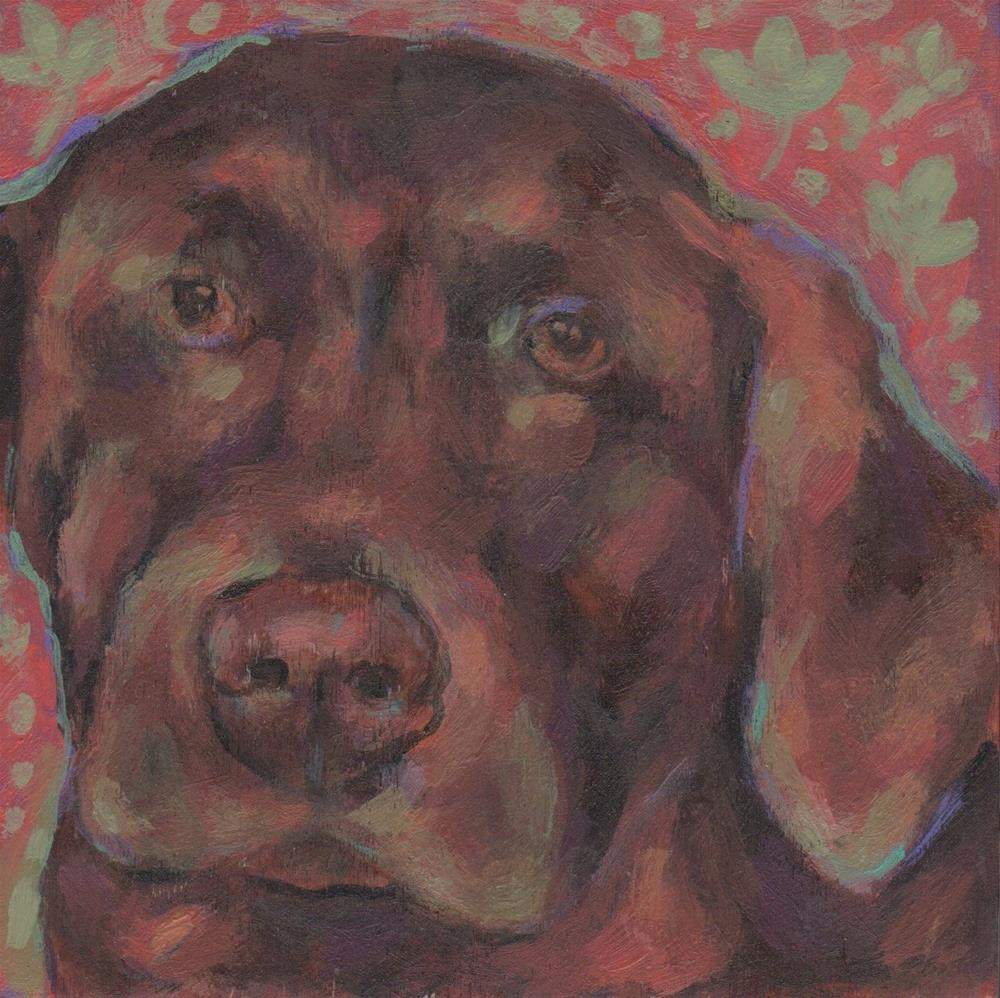 """Chocolate Lab"" original fine art by Kathy Hiserman"