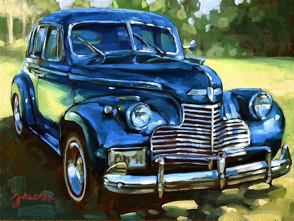 """Blue Chevy-2"" original fine art by Joanna Bingham"
