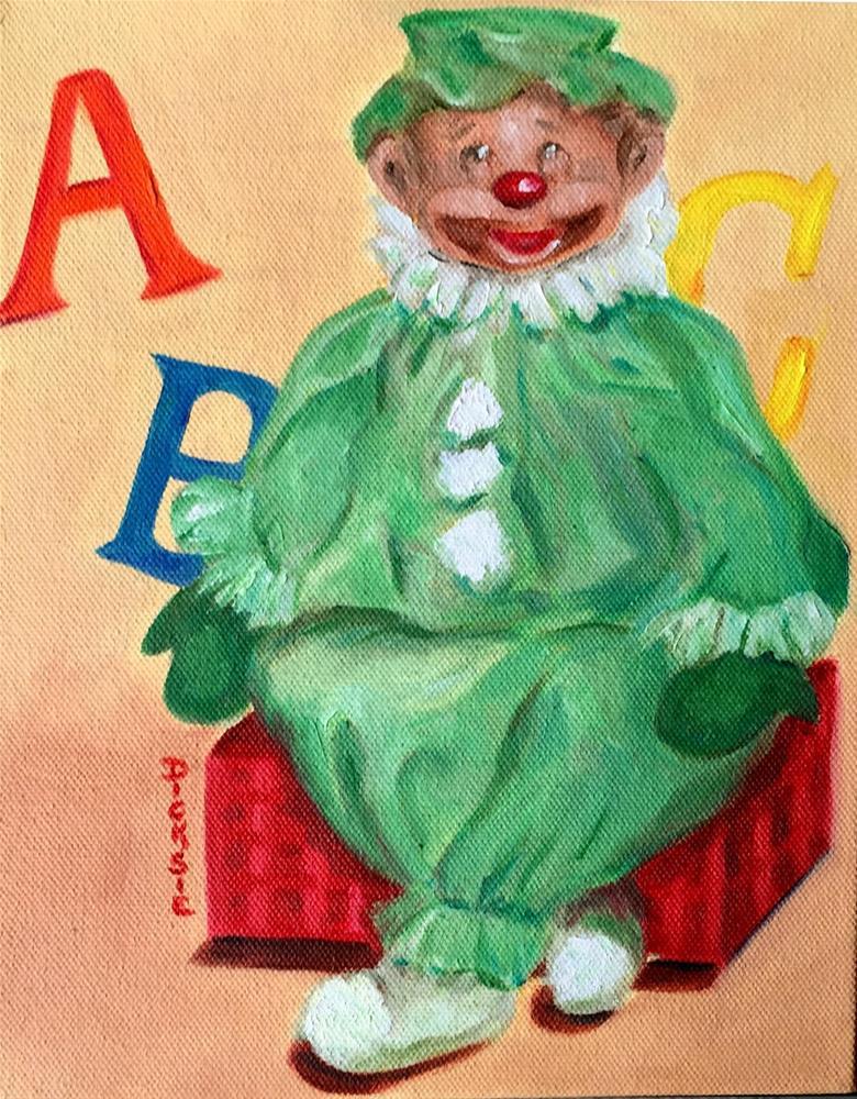 """Betty's Clown"" original fine art by Dicksie McDaniel"