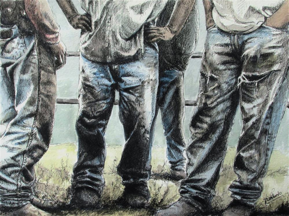 """Cowboy Jeans"" original fine art by Dana Lombardo"