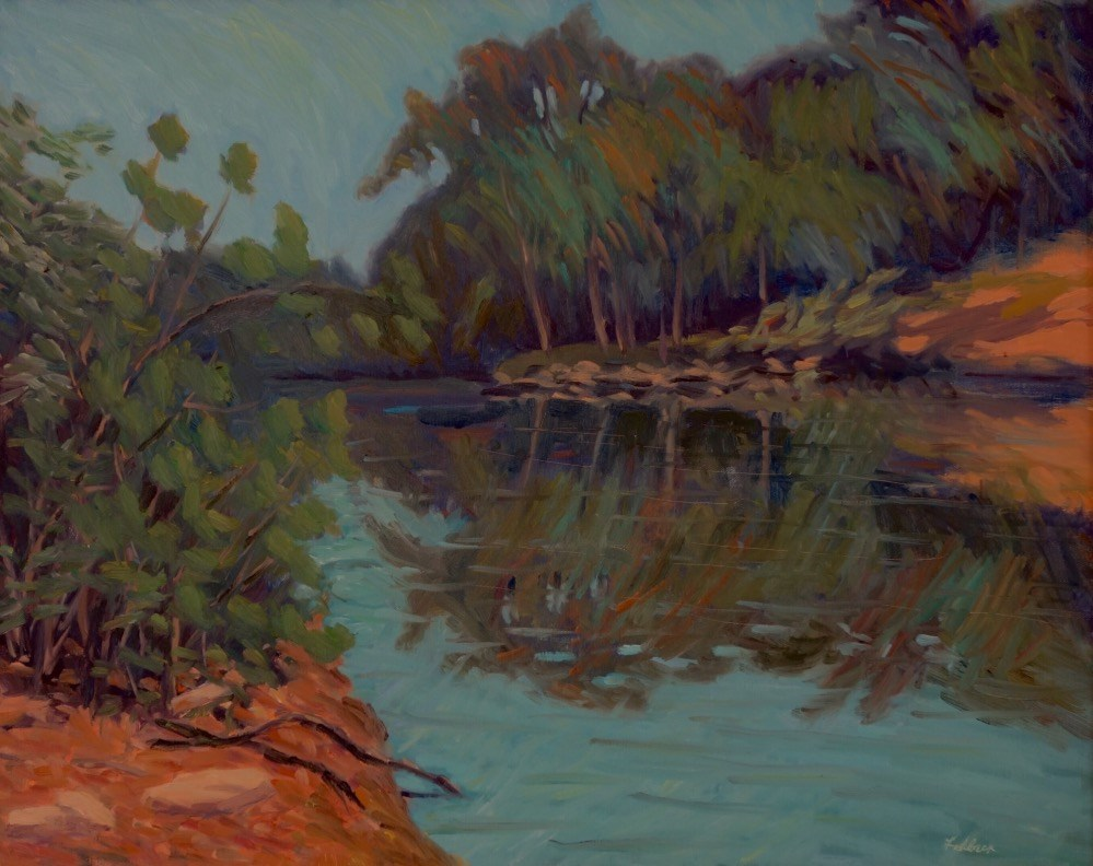 """Afternoon on the Meramec River"" original fine art by Daniel Fishback"