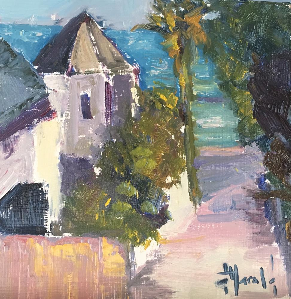 """""""Alley Study in Corona Del Mar"""" original fine art by Deborah Harold"""