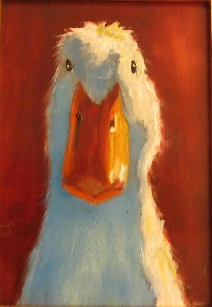 """How you doin?"" original fine art by Kathy Carey"