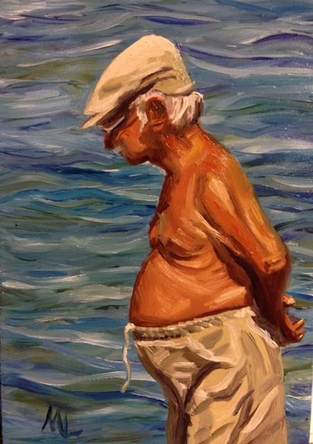 """""""Good Day, Sunshine"""" original fine art by Marjie Laizure"""