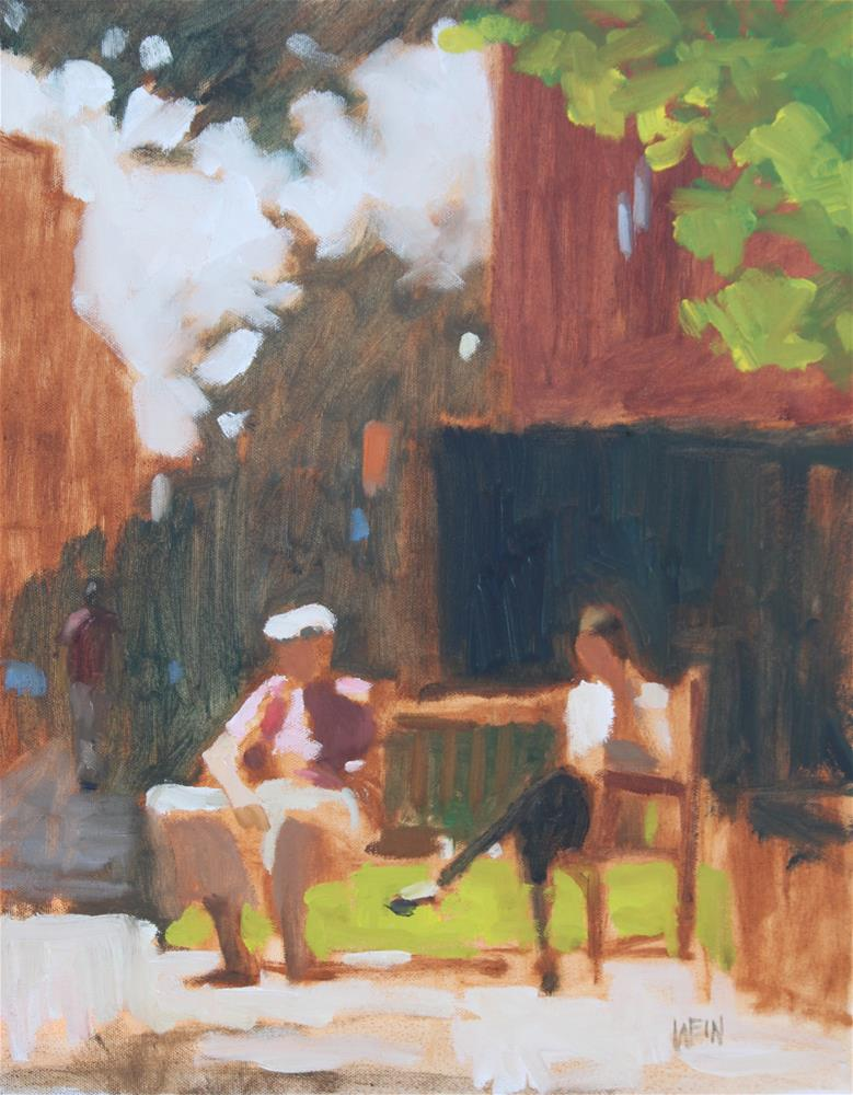 """Room on the Bench"" original fine art by eric wein"