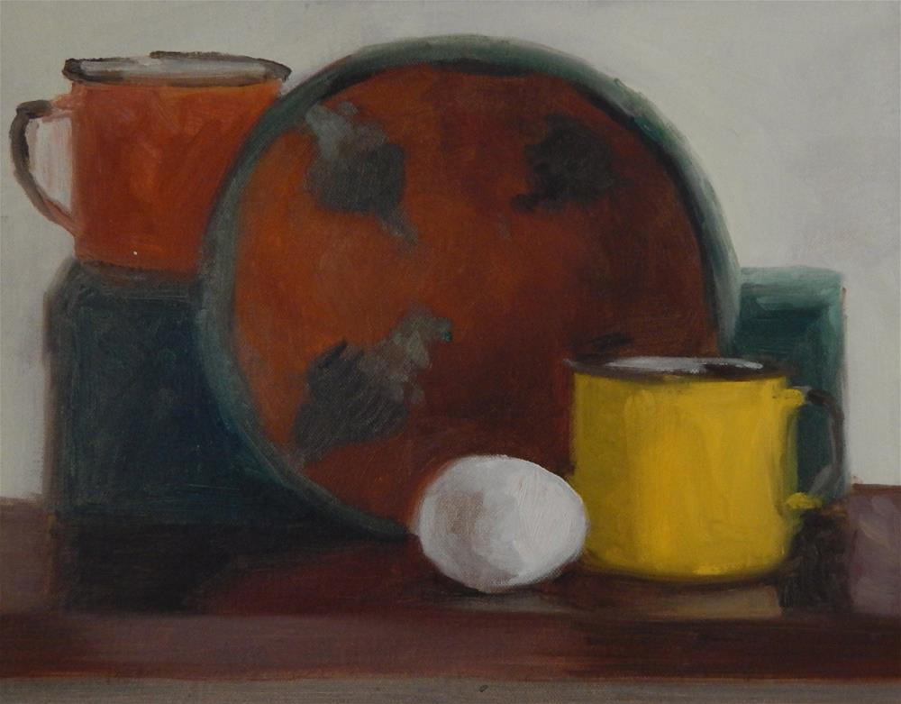"""Composition in Orange"" original fine art by Megan Schembre"