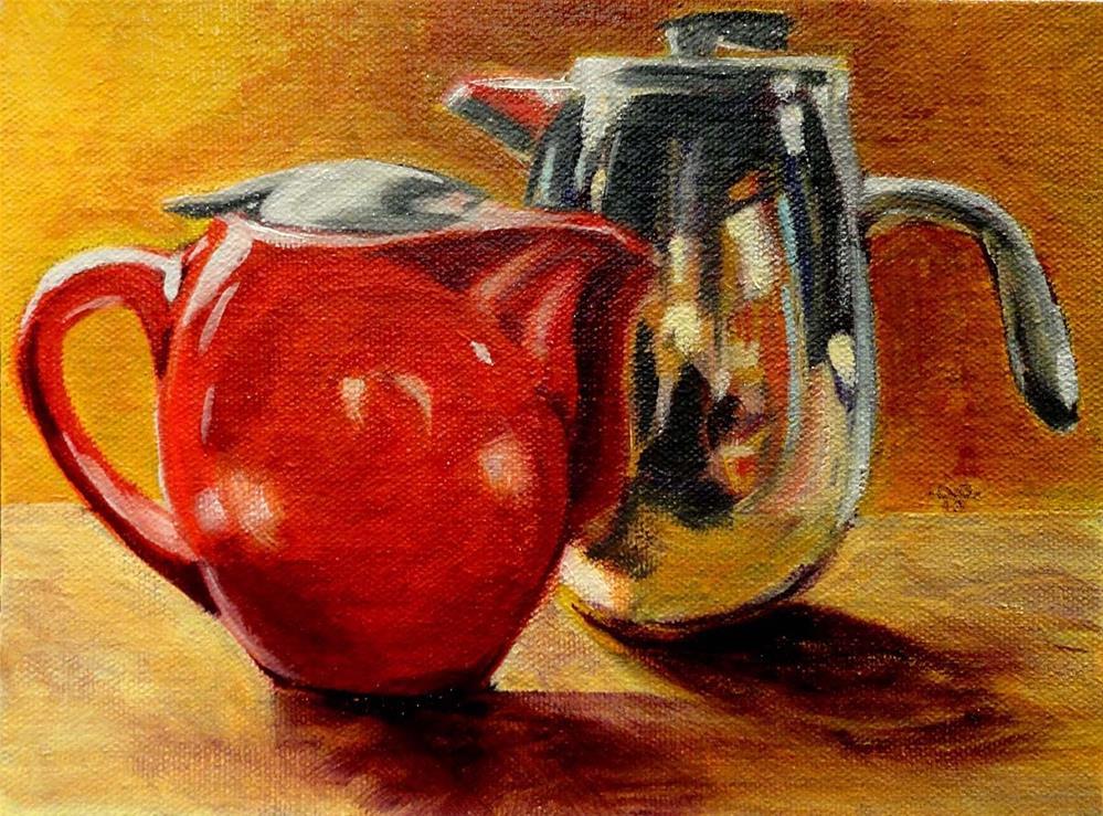 """Tea or Coffee"" original fine art by Cietha Wilson"