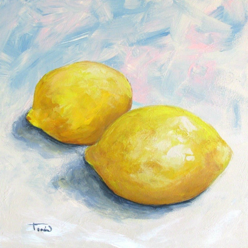 """Just Lemons II"" original fine art by Torrie Smiley"