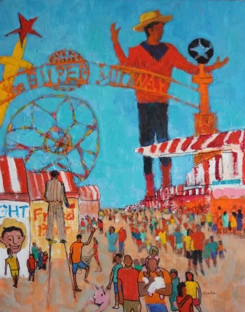 """Texas State Fair"" original fine art by Christine Parker"
