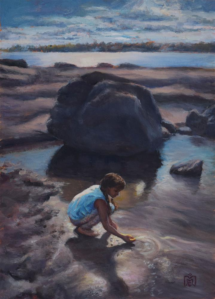 """Looking for Crabs"" original fine art by Melissa  Imossi"