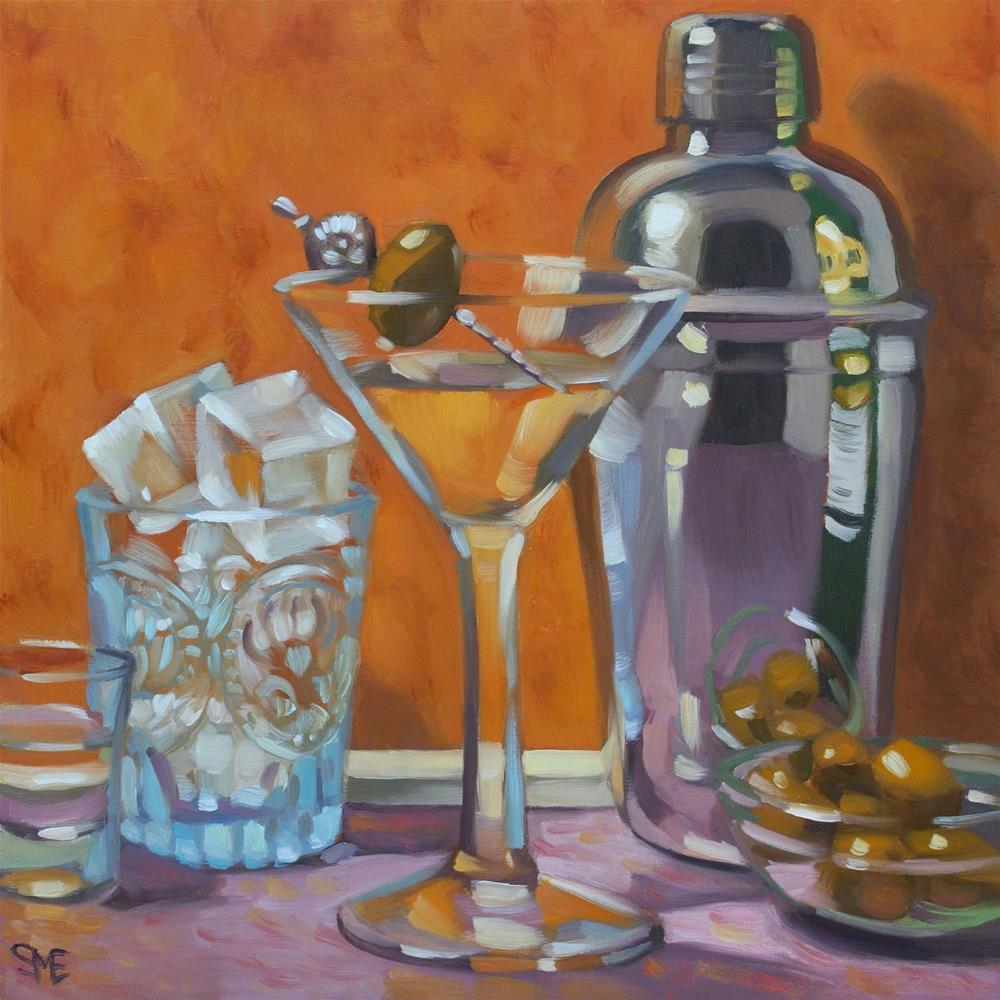 """Martini"" original fine art by Sheila Evans"