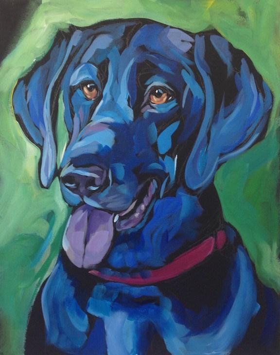 """""""Otto In Green"""" original fine art by Kat Corrigan"""
