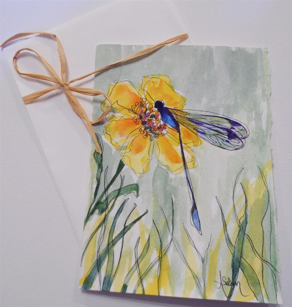 """Dragon Fly Flower by Alabama Artist Angela Sullivan"" original fine art by Angela Sullivan"