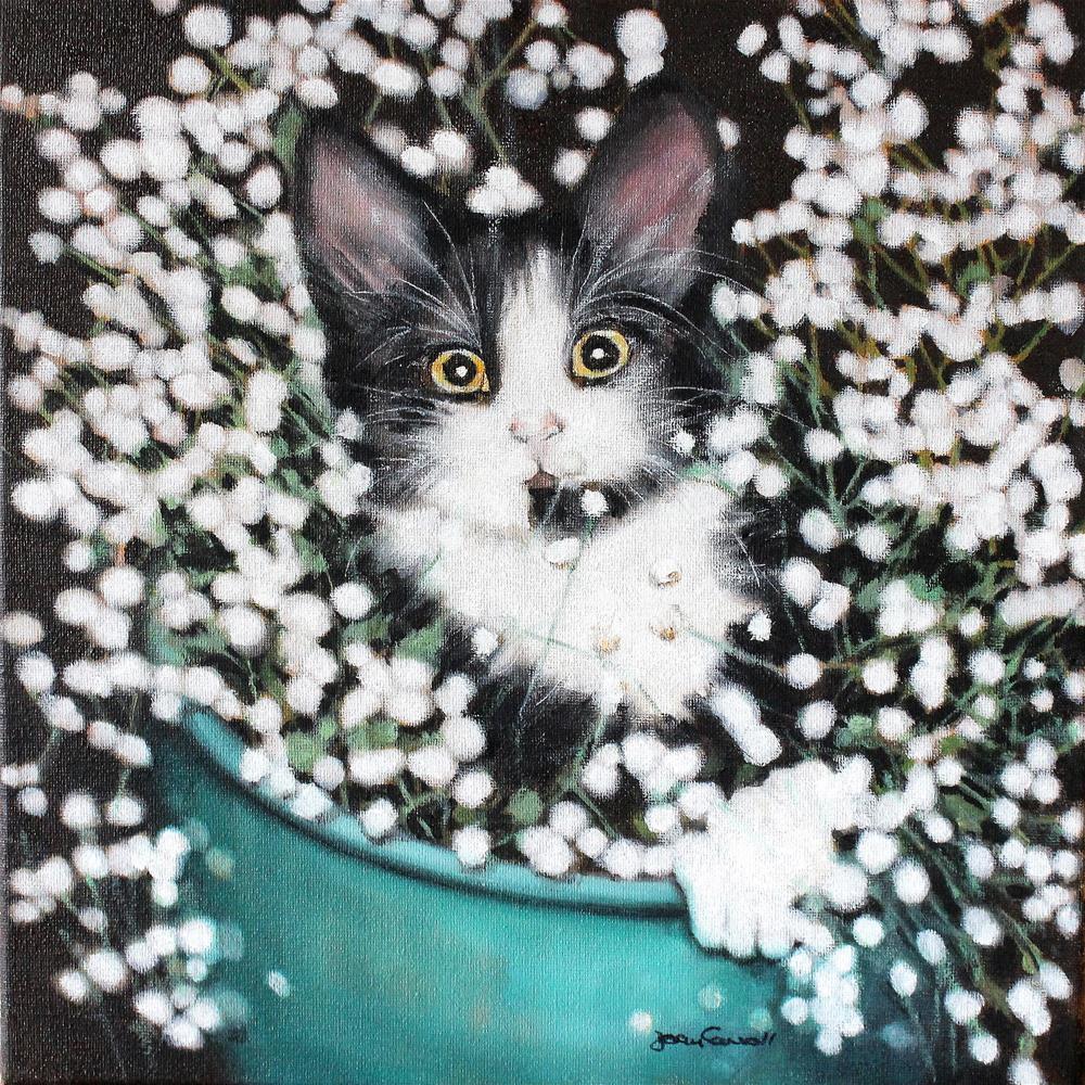 """Potted Pet"" original fine art by Joan Carroll"