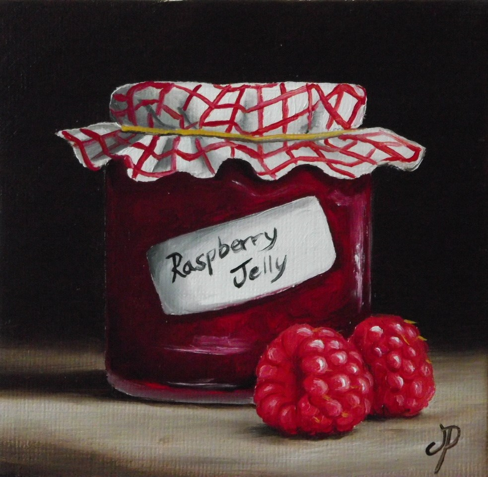 """Home made Raspberry Jelly"" original fine art by Jane Palmer"