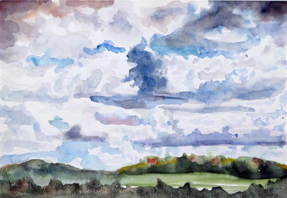"""Summer Sky"" original fine art by  David Beale"