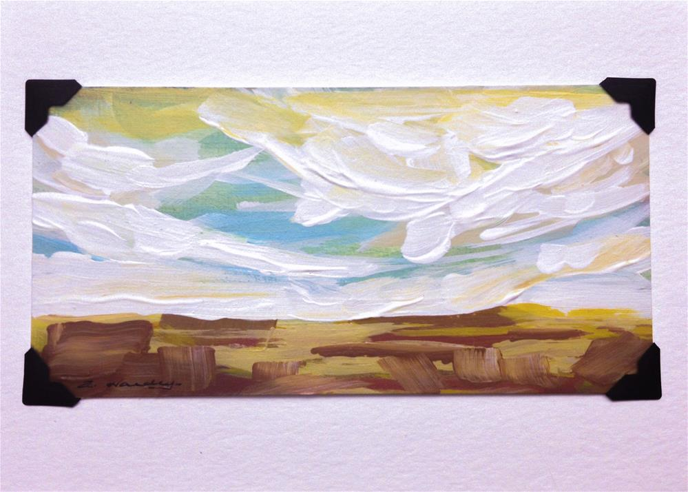 """landscape study #1 mounted on 5x7 White Watercolor card"" original fine art by Angela Hardy"