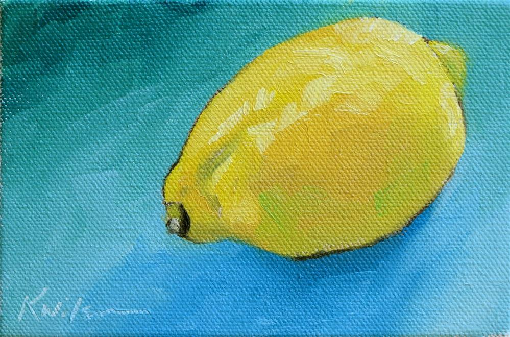 """Lemon Zest"" original fine art by Katy Wilson"