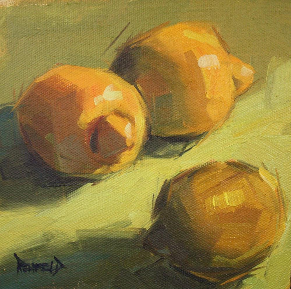 """Lemon Shadows"" original fine art by Cathleen Rehfeld"