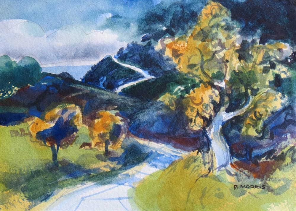 """The Road to the Coast II"" original fine art by Dann Morris"
