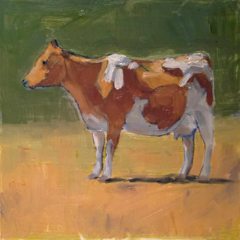 """""""Yes! Another Cow Painting!"""" original fine art by Deborah Newman"""