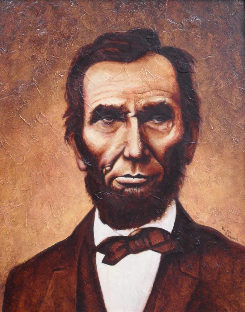 """Mr Lincoln"" original fine art by Karen Roncari"