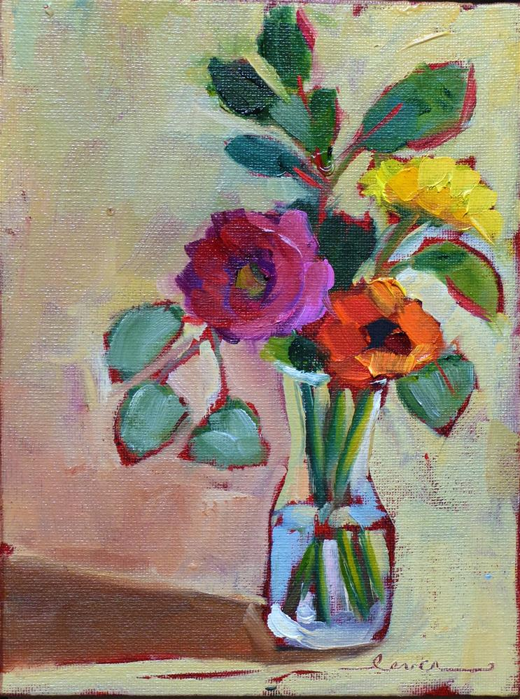 """Yellow, Orange and Pink Together"" original fine art by Martha Lever"