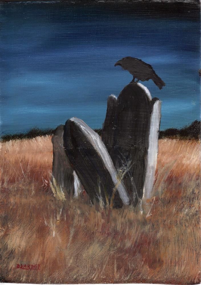 """Raven in Graveyard"" original fine art by Daniel Varney"