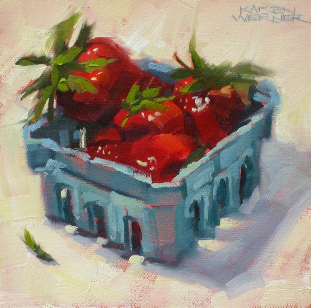 """Ripe Red"" original fine art by Karen Werner"