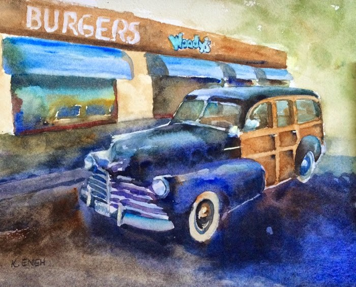 """Woodie!"" original fine art by Katharine Engh"