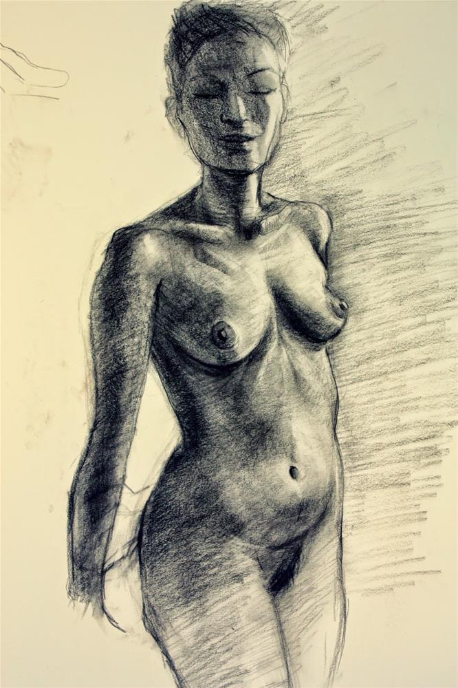 """Asian model, session #1, Chelsea"" original fine art by Hilary J. England"