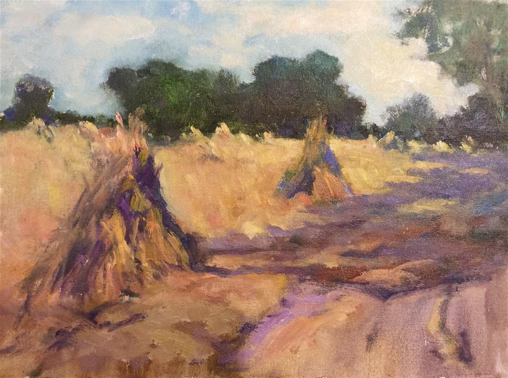 """Summer Stooks"" original fine art by John Shave"