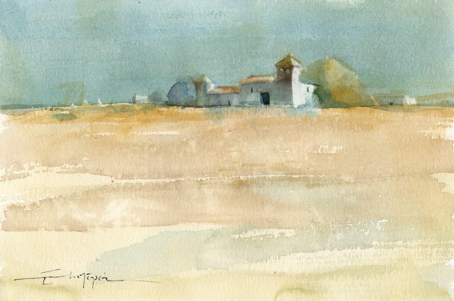 """Seville countryside 5"" original fine art by Emilio López"