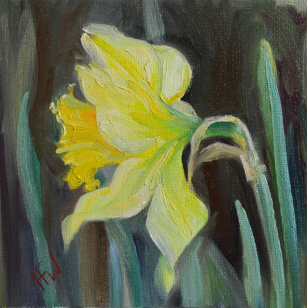 """Daffodil 2"" original fine art by H.F. Wallen"