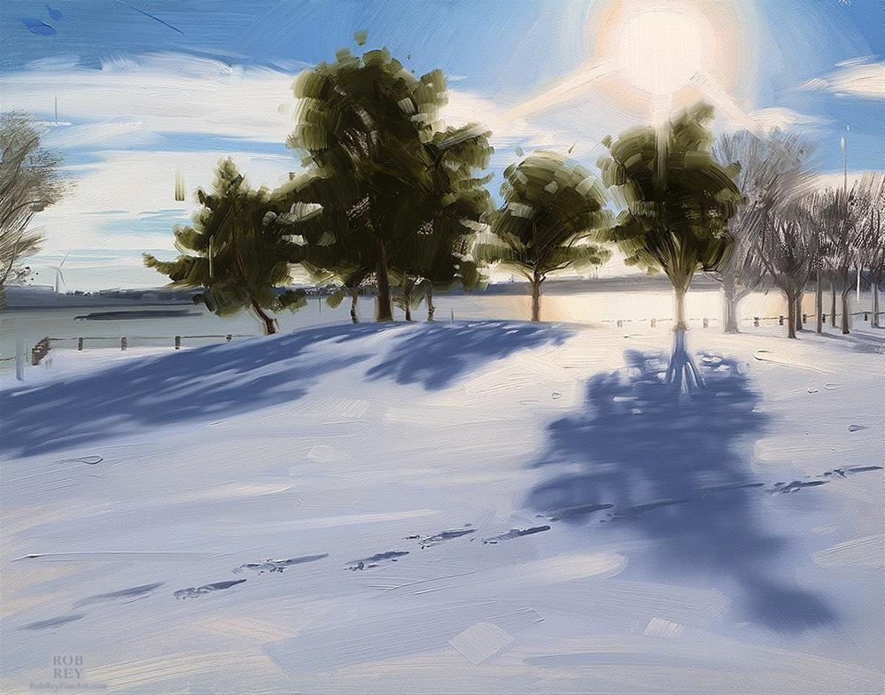"""First Tracks"" original fine art by Rob  Rey"