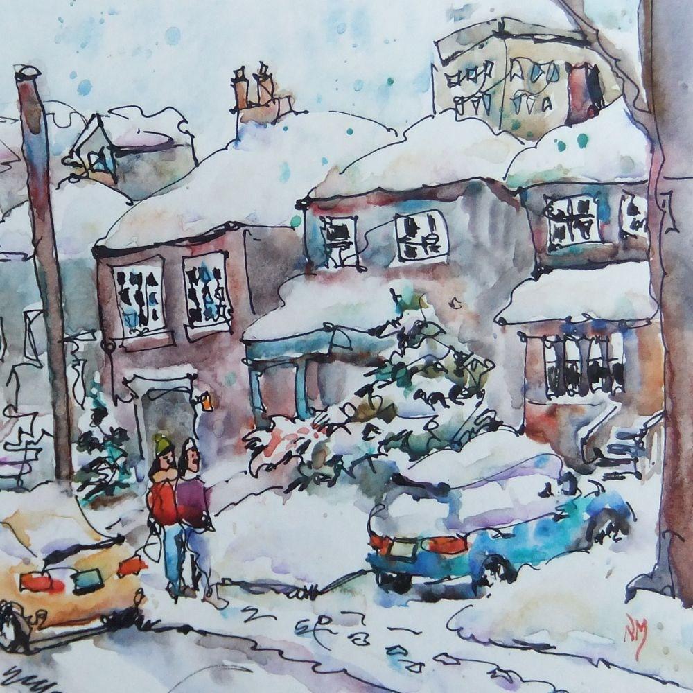 """follow those footprints"" original fine art by Nora MacPhail"