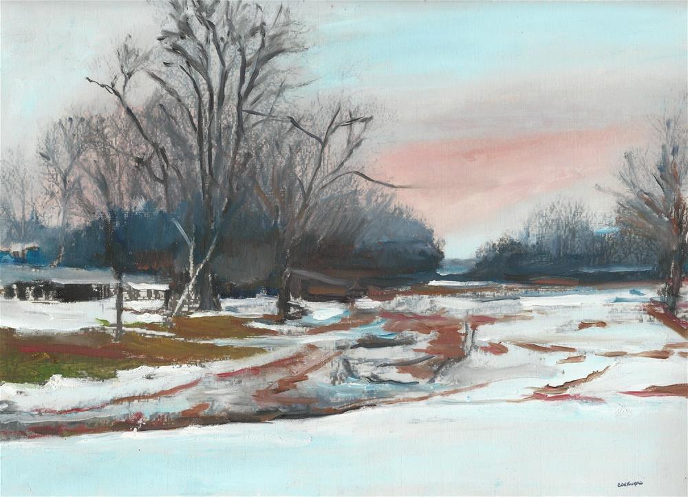 """The Dusk (12 x 16 oil on canvas sheet - no frame)"" original fine art by Ramon DelRosario"