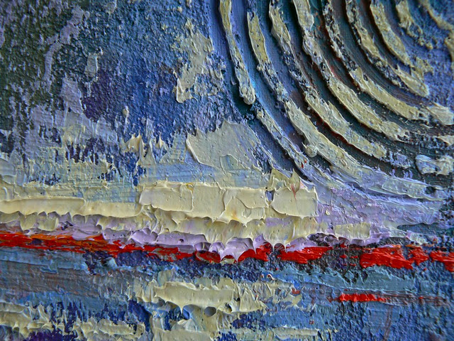 """BEGINNING, 6x8, Mixed Media"" original fine art by Carol Schiff"