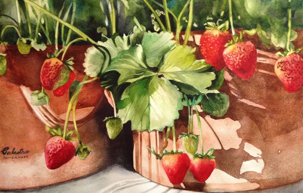 """It's Berry Season"" original fine art by Diane Fujimoto"