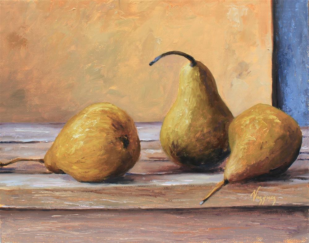 """Bosc pears"" original fine art by Marco Vazquez"