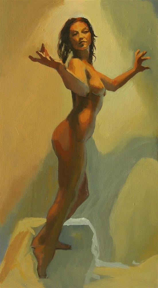 """Dynamic standing pose"" original fine art by Peter Orrock"