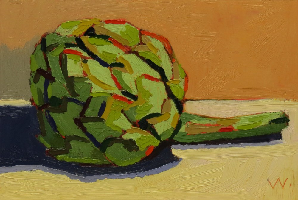 """Artichoke"" original fine art by Joan Wiberg"