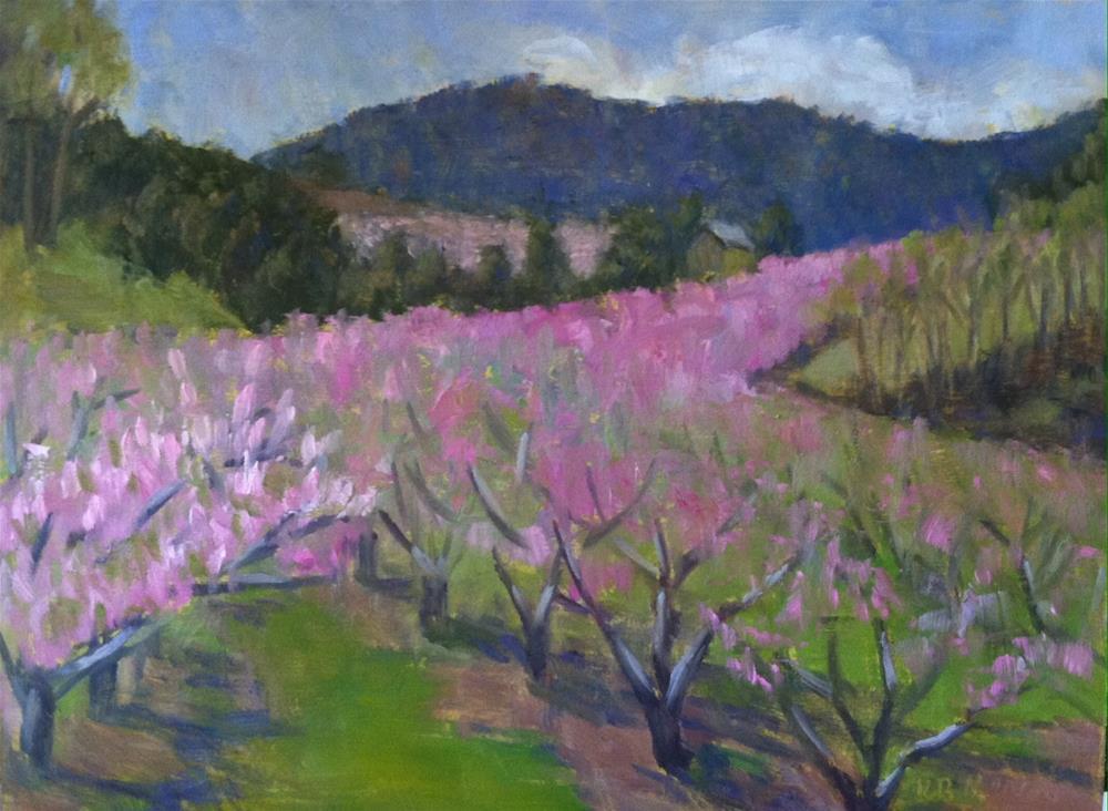"""Peach Orchard (As Far as the Eye Can See)"" original fine art by Katharine March"