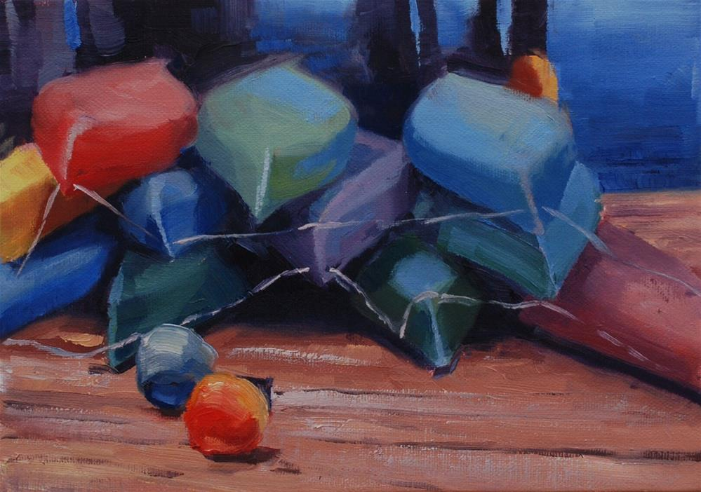 """Coupeville Wharf Sea Kayaks"" original fine art by Susan McManamen"