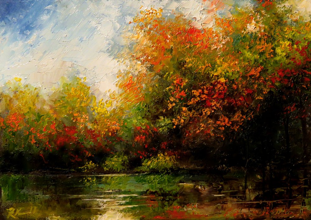 """Fall to Spring"" original fine art by Bob Kimball"