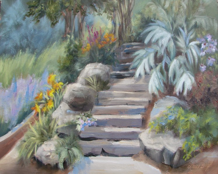 """Stairway to Mary's 248"" original fine art by Laura  Buxo"