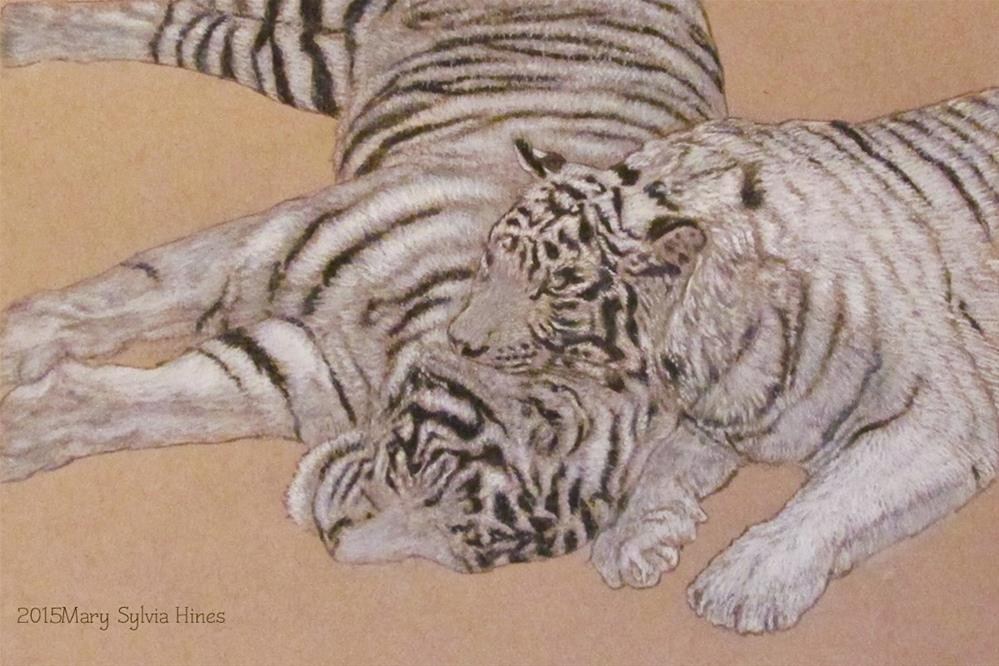 """'Lazy Days"" original fine art by Mary Sylvia Hines"