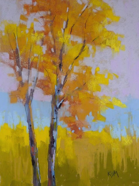 """Aspen Series part 7....A Simple Twist"" original fine art by Karen Margulis"