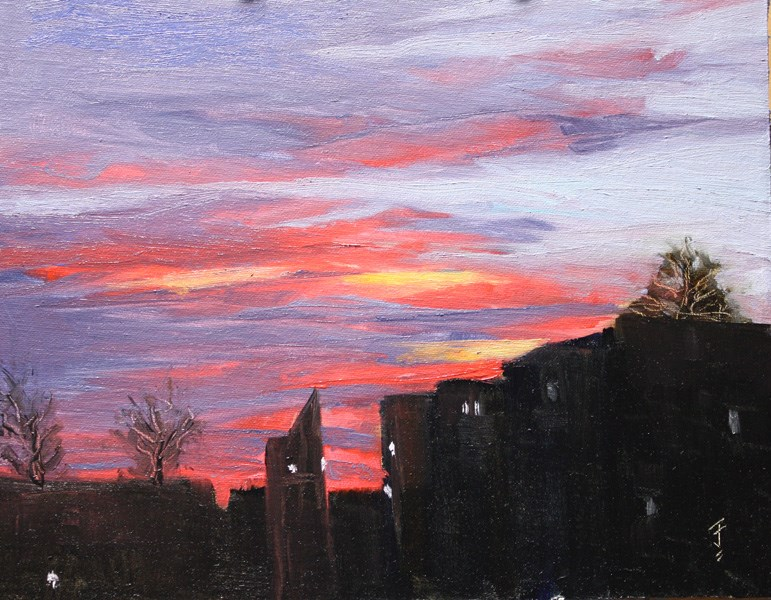 """Shepherd's Warning..."" original fine art by Jane Frederick"