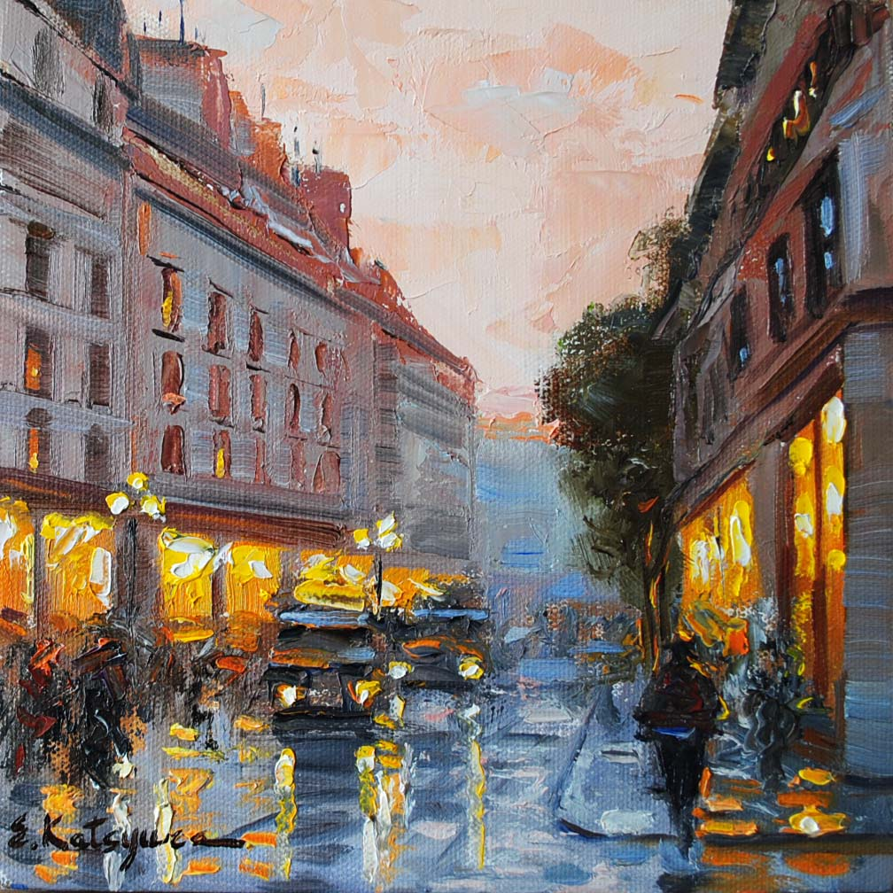 """Paris Memories III"" original fine art by Elena Katsyura"